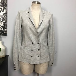 Banana Republic gray button blazer Sz S